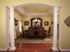 Elliptical Arch with Tuscon Columns, Angled Tray Ceiling